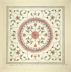Detail of the pietra dura work in the Taj Mahal, Agra.